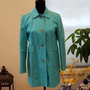 Ann Taylor petite teal coat